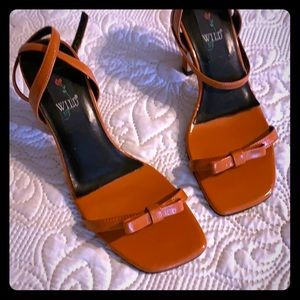 Vintage wild rose sandal orange  shoes size 6.5